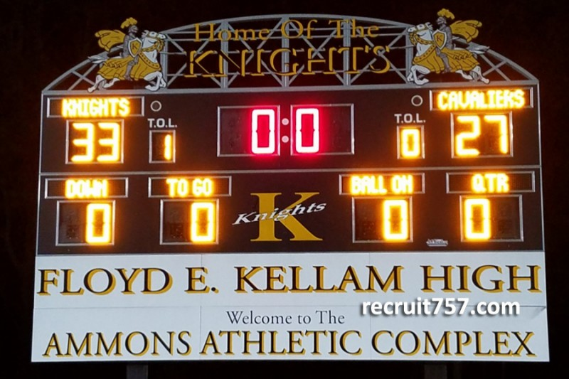 Friday Night Scoreboard - Kellam