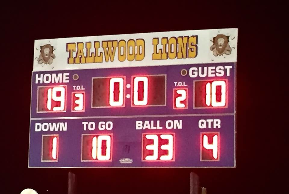 Friday Night Finals - Tallwood - Scoreboard