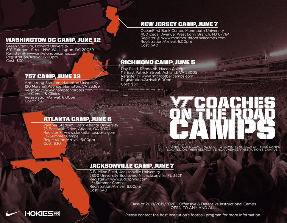 c23913b52c6 Virginia Tech coaches will see you at camp! - Ultimate Recruit