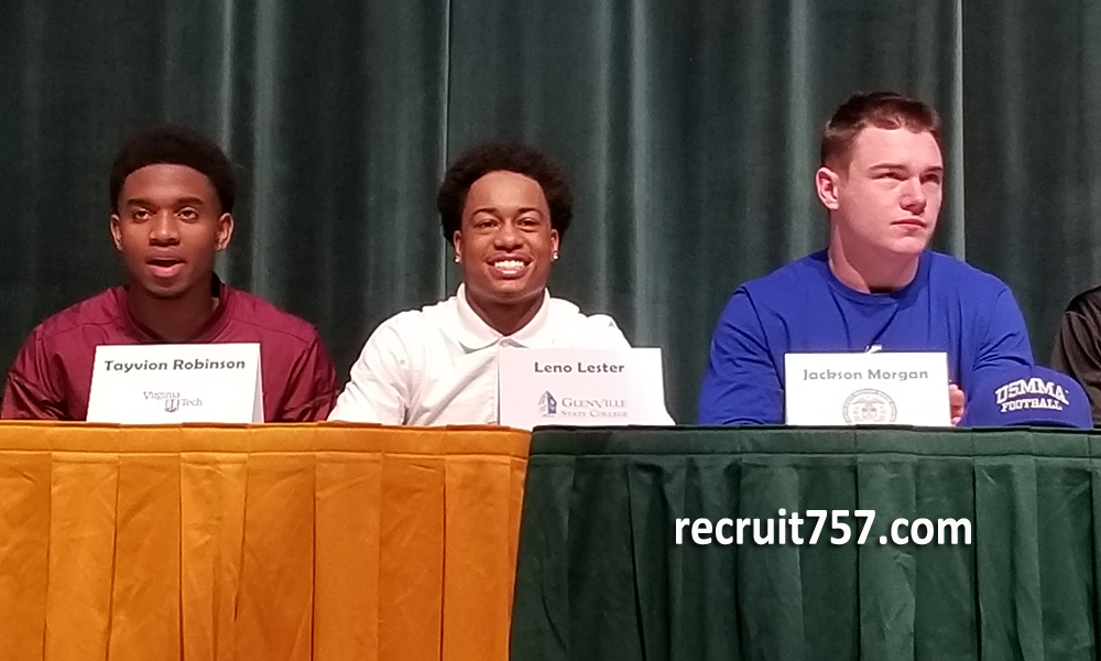 Leno Lester - Jackson Morgan - Tayvion Robinson - Cox - National Signing Day